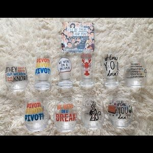FRIENDS TV Show Drinking Glasses and Book
